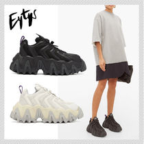 Eytys Rubber Sole Suede Plain Leather Low-Top Sneakers