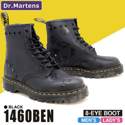 Dr Martens 1460 Rubber Sole Street Style Leather Boots Boots