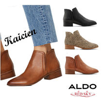 ALDO Platform Round Toe Casual Style Plain Leather Chelsea Boots