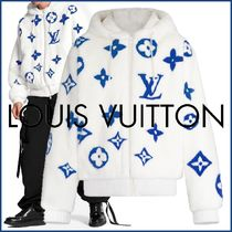 Louis Vuitton MONOGRAM Monogram Blended Fabrics Street Style Bi-color Long Sleeves