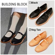 Building Block Casual Style Plain Leather Sandals Sandal