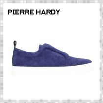 Pierre Hardy Round Toe Casual Style Suede Plain Low-Top Sneakers