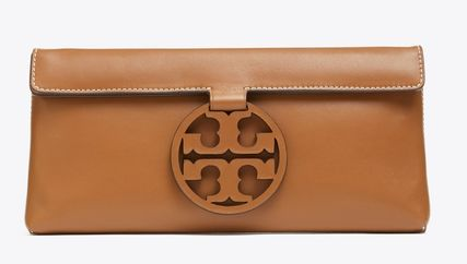 Tory Burch MILLER Plain Leather Clutches