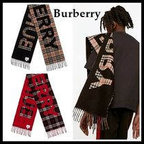 Burberry Tartan Other Check Patterns Unisex Heavy Scarves & Shawls