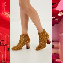 Christian Louboutin Leather Elegant Style Chunky Heels Ankle & Booties Boots
