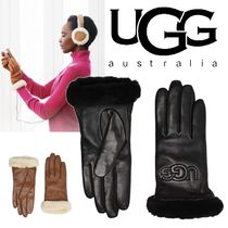 UGG Australia CLASSIC Blended Fabrics Plain Leather Leather & Faux Leather Gloves