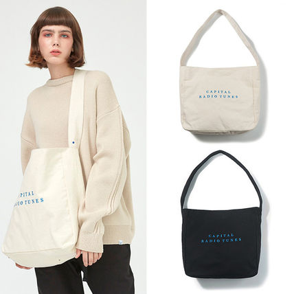 Casual Style Unisex Street Style A4 2WAY Plain Shoulder Bags