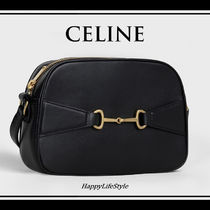 CELINE Lambskin Bi-color Plain Elegant Style Crossbody Camera Bag