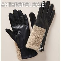 Anthropologie Unisex Cashmere Plain Leather Handmade