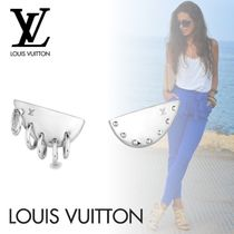 Louis Vuitton Casual Style Studded Elegant Style Asymmetry Earrings