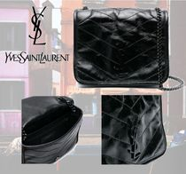 Saint Laurent 2WAY Leather Party Style Elegant Style Party Bags