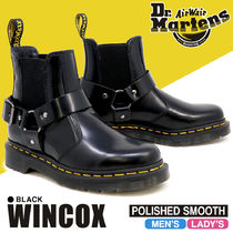 Dr Martens WINCOX Rubber Sole Street Style Leather Boots Boots