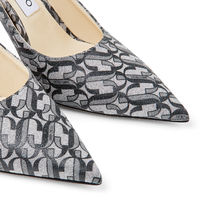 Jimmy Choo Monogram Casual Style Leather Pin Heels Party Style