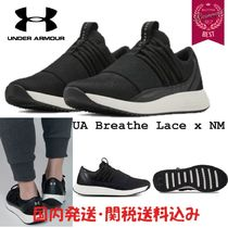 UNDER ARMOUR Round Toe Rubber Sole Casual Style Street Style Plain