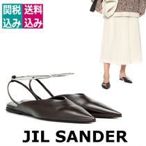 Jil Sander Casual Style Blended Fabrics Street Style Plain Leather
