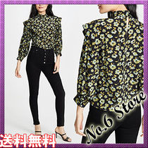 No.6 Store Flower Patterns Casual Style Silk Long Sleeves Office Style