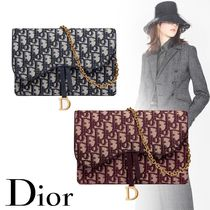 Christian Dior Monogram Canvas 2WAY Chain Party Style Elegant Style