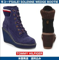 Tommy Hilfiger Platform Lace-up Casual Style Suede Wedge Boots