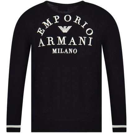 EMPORIO ARMANI Sweaters Long Sleeves Plain Logo Sweaters