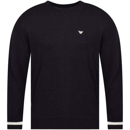 EMPORIO ARMANI Sweaters Long Sleeves Plain Logo Sweaters 2