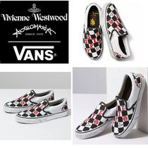 Vivienne Westwood Other Check Patterns Plain Toe Rubber Sole Casual Style
