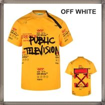 Off-White Crew Neck Pullovers Street Style Short Sleeves