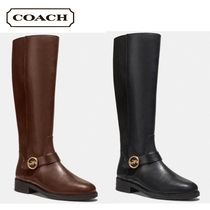 Coach Leather Mid Heel Boots