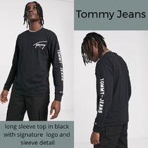 Tommy Hilfiger Crew Neck Long Sleeves Plain T-Shirts