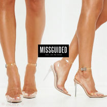 Missguided Pin Heels PVC Clothing Elegant Style Heeled Sandals