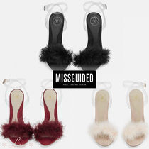 Missguided Open Toe Pin Heels PVC Clothing Elegant Style Heeled Sandals