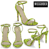 Missguided Open Toe Pin Heels Elegant Style Heeled Sandals