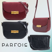 PARFOIS Casual Style Faux Fur Blended Fabrics Shoulder Bags