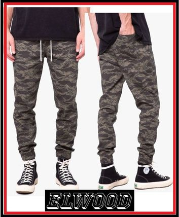 Street Style Cotton Khaki Joggers & Sweatpants