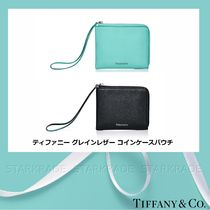 Tiffany & Co Plain Leather Long Wallet  Small Wallet Coin Cases
