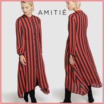 Stripes Long Shirt Dresses Dresses