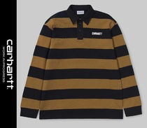Carhartt Stripes Street Style Long Sleeves Polos