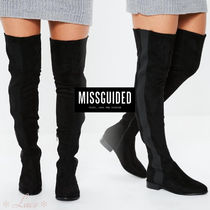 Missguided Suede Elegant Style Over-the-Knee Boots