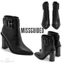 Missguided Faux Fur Elegant Style Chunky Heels Ankle & Booties Boots