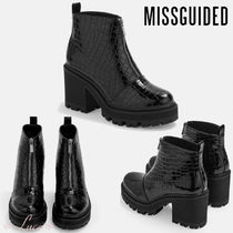 Missguided Platform Round Toe Elegant Style Ankle & Booties Boots