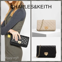 Charles&Keith 2WAY Chain Plain Party Style Clutches