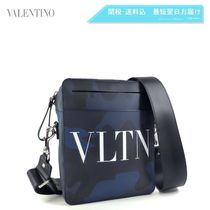 Mario Valentino Casual Style Unisex Studded Leather Shoulder Bags