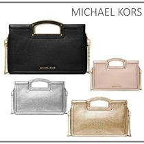 Michael Kors Casual Style Street Style 2WAY 3WAY Chain Plain Leather