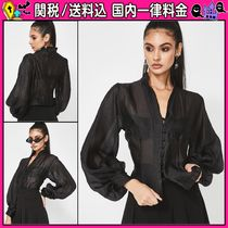DOLLS KILL Casual Style Long Sleeves Plain Shirts & Blouses