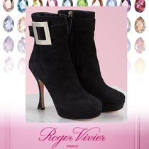 Roger Vivier Casual Style Suede Plain Pin Heels Elegant Style