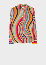 Paul Smith Stripes Casual Style Silk Long Sleeves Party Style