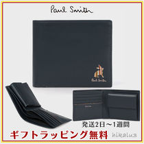 Paul Smith Stripes Unisex Other Animal Patterns Leather Folding Wallets
