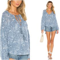 INDAH Casual Style Tassel Long Sleeves Medium Shirts & Blouses