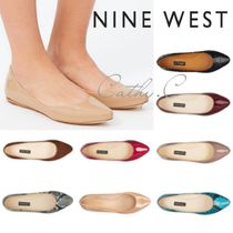 Nine West Casual Style Plain Leather Python Pointed Toe Shoes