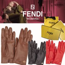 FENDI Leather Leather & Faux Leather Gloves