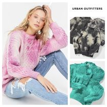 Urban Outfitters Crew Neck Casual Style Tie-dye Long Sleeves Plain Medium